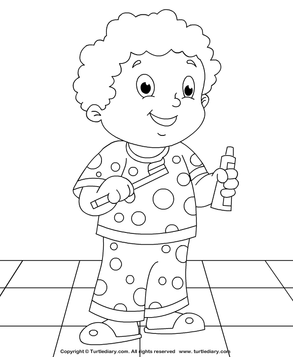 Brush Your Teeth Coloring Sheet | Turtle Diary