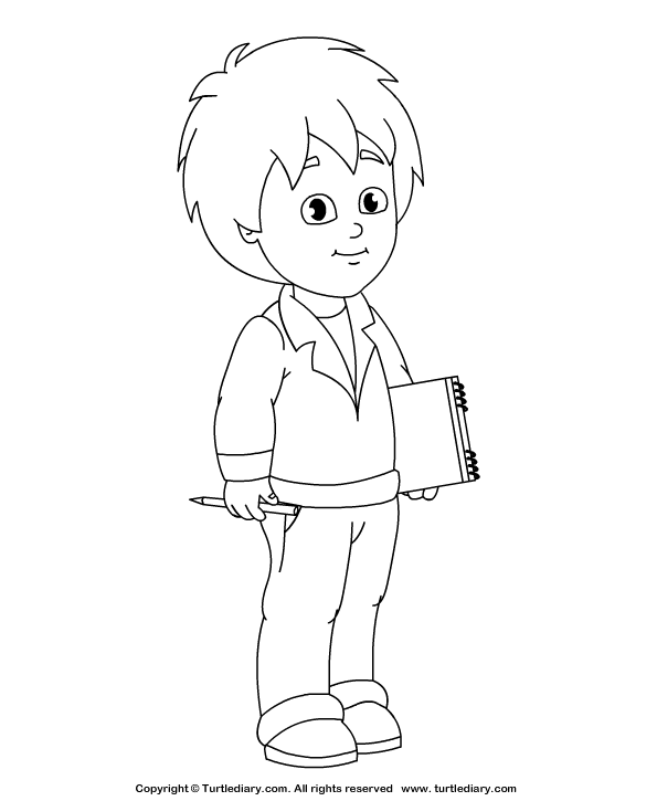 Dress Up Coloring Page