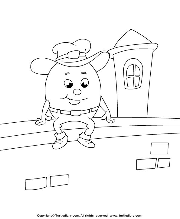 humpty dumpty coloring pages - photo#19