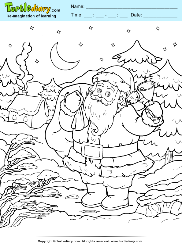 Christmas at the North Pole Coloring Page