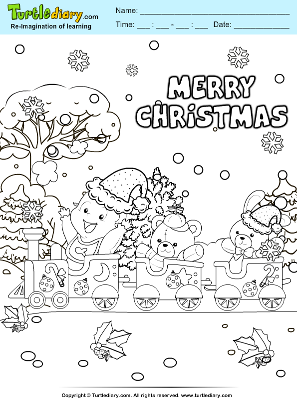 Christmas Celebration Coloring Page