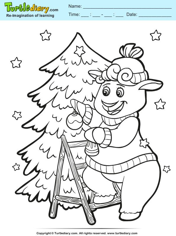 Christmas Tree Decoration Coloring Page