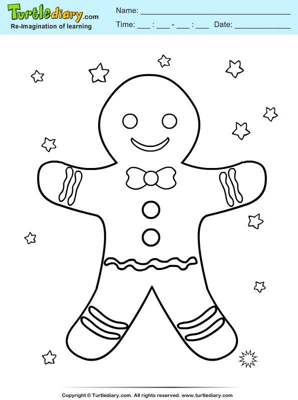 Gingerman Coloring Page