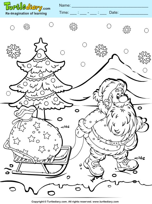 Santa Gifts Sleigh