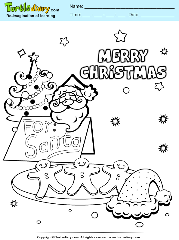 Santa Treat Coloring Page