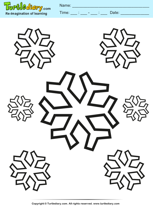 Snowflake Coloring Sheet | Turtle Diary