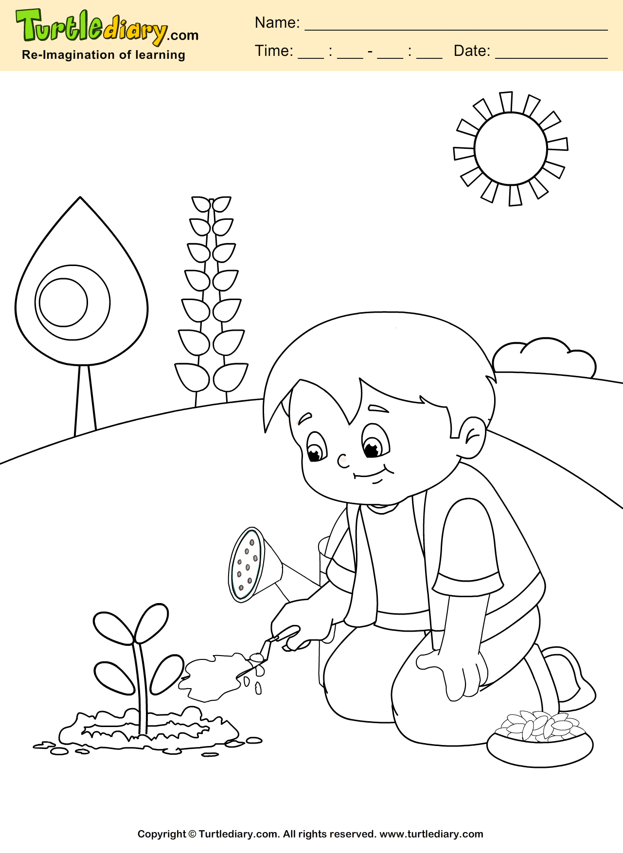 coloring pages of bladderworts plants - photo#26