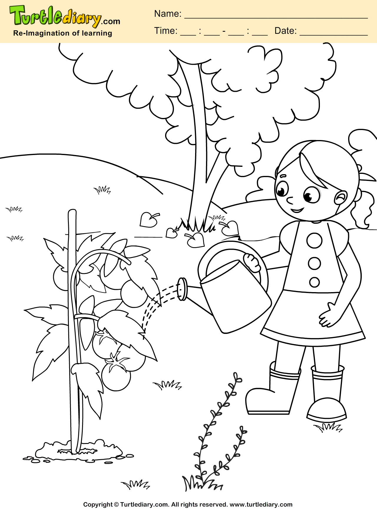 Water Plant Coloring Page