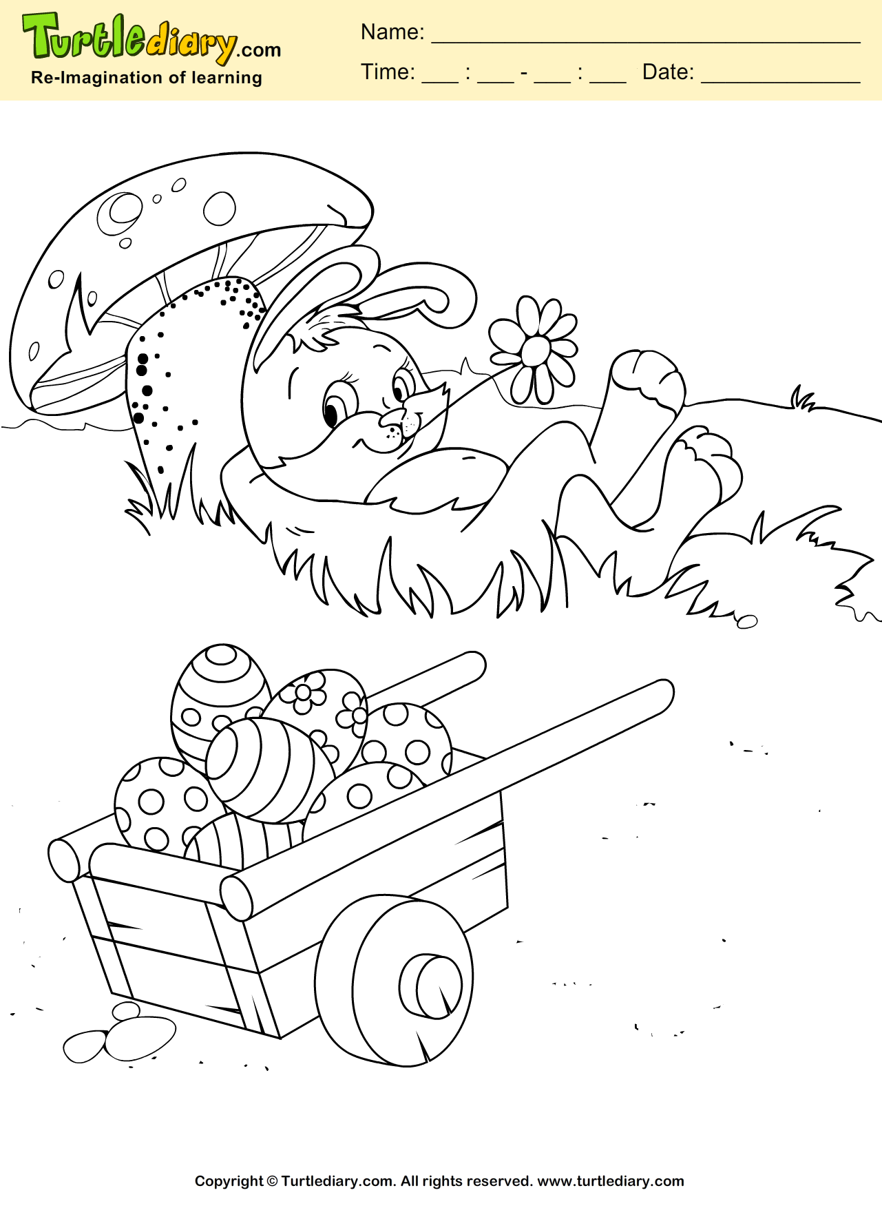 Easter Rabbit Coloring Sheet | Turtle Diary