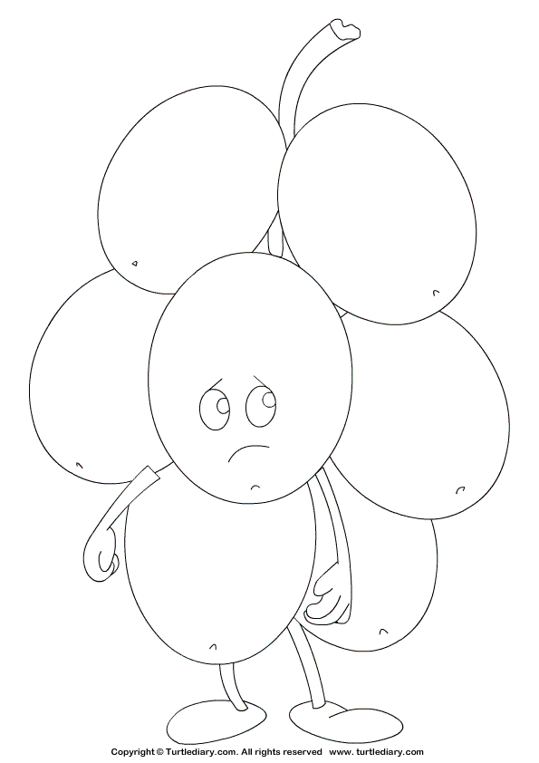 Grape Coloring Page