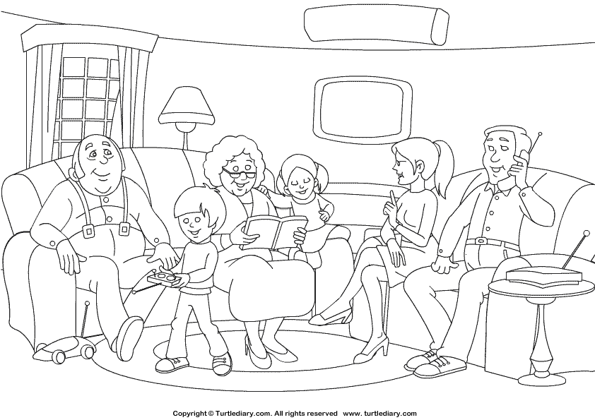 family printable coloring pages - photo#39