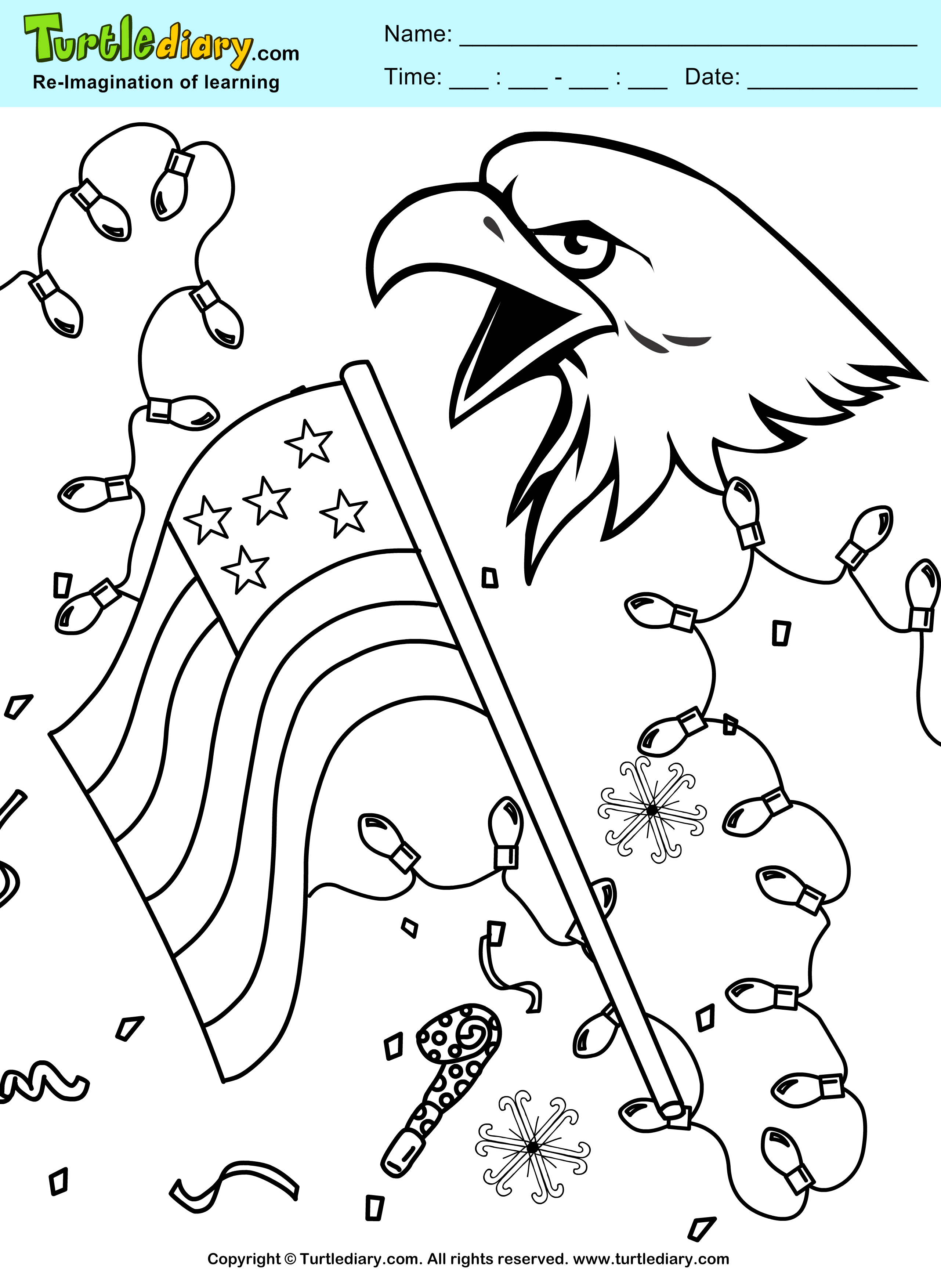 US Independence Coloring Sheet