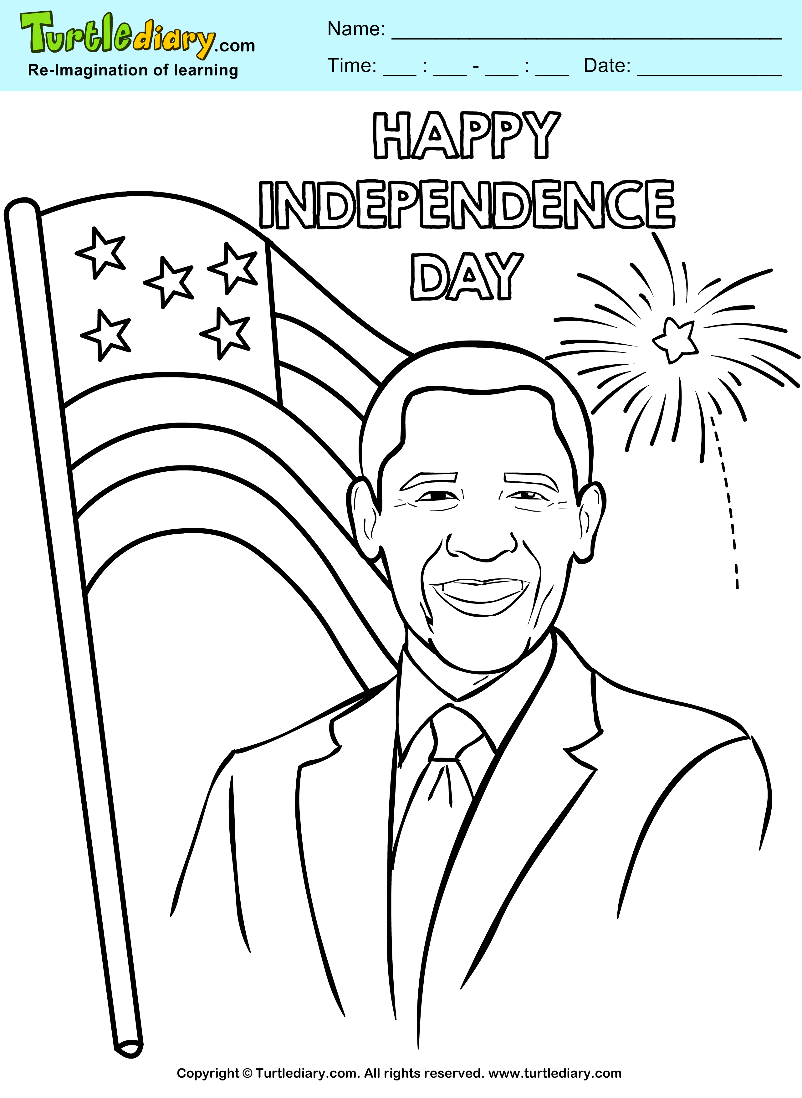 Happy Independence Day Coloring