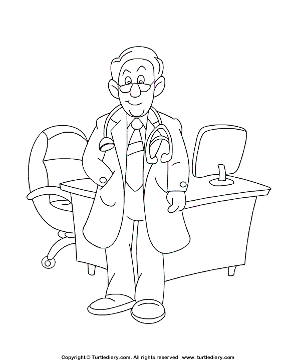 Colouring Pages Doctors And Nurses