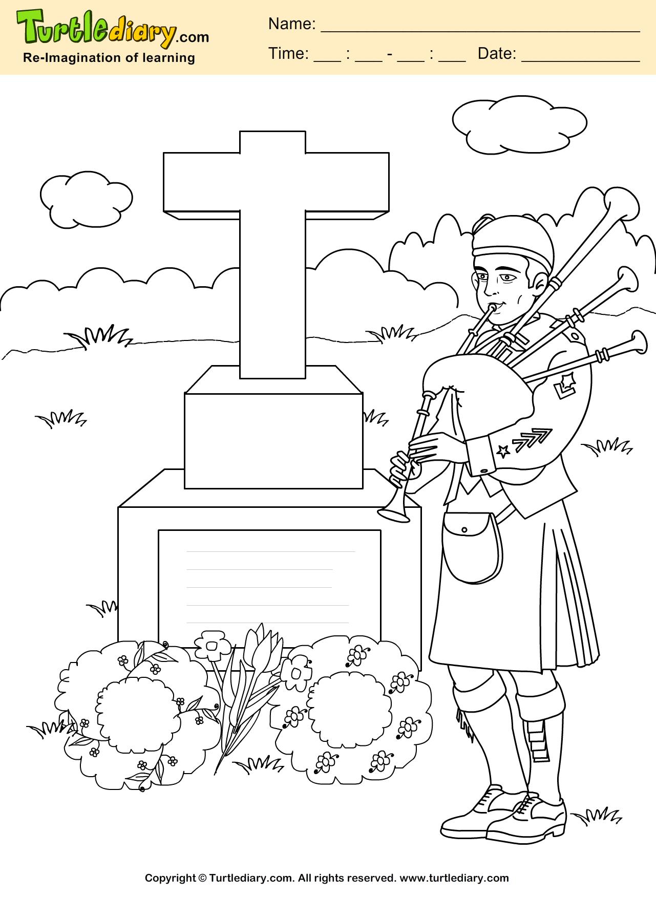 Memorial Coloring Page