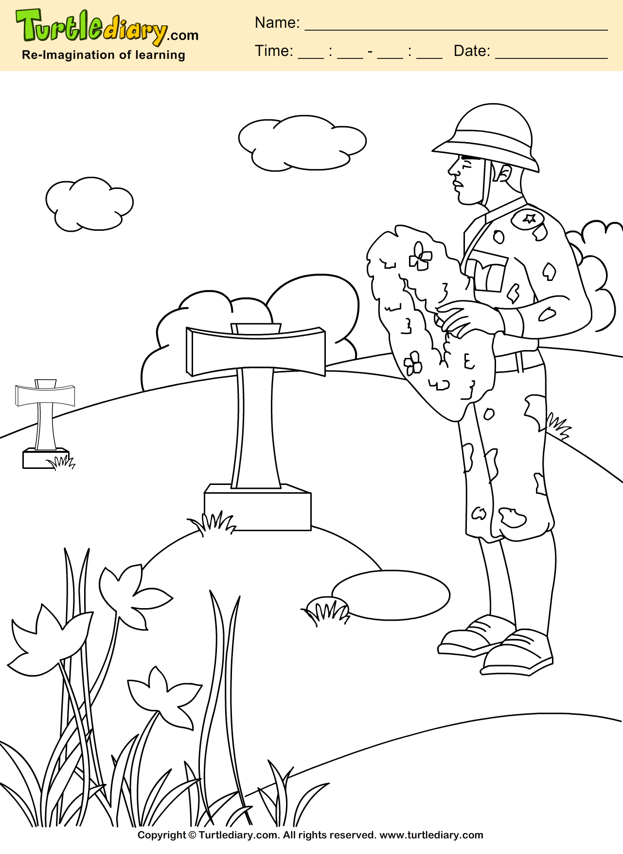 Tribute Coloring Page