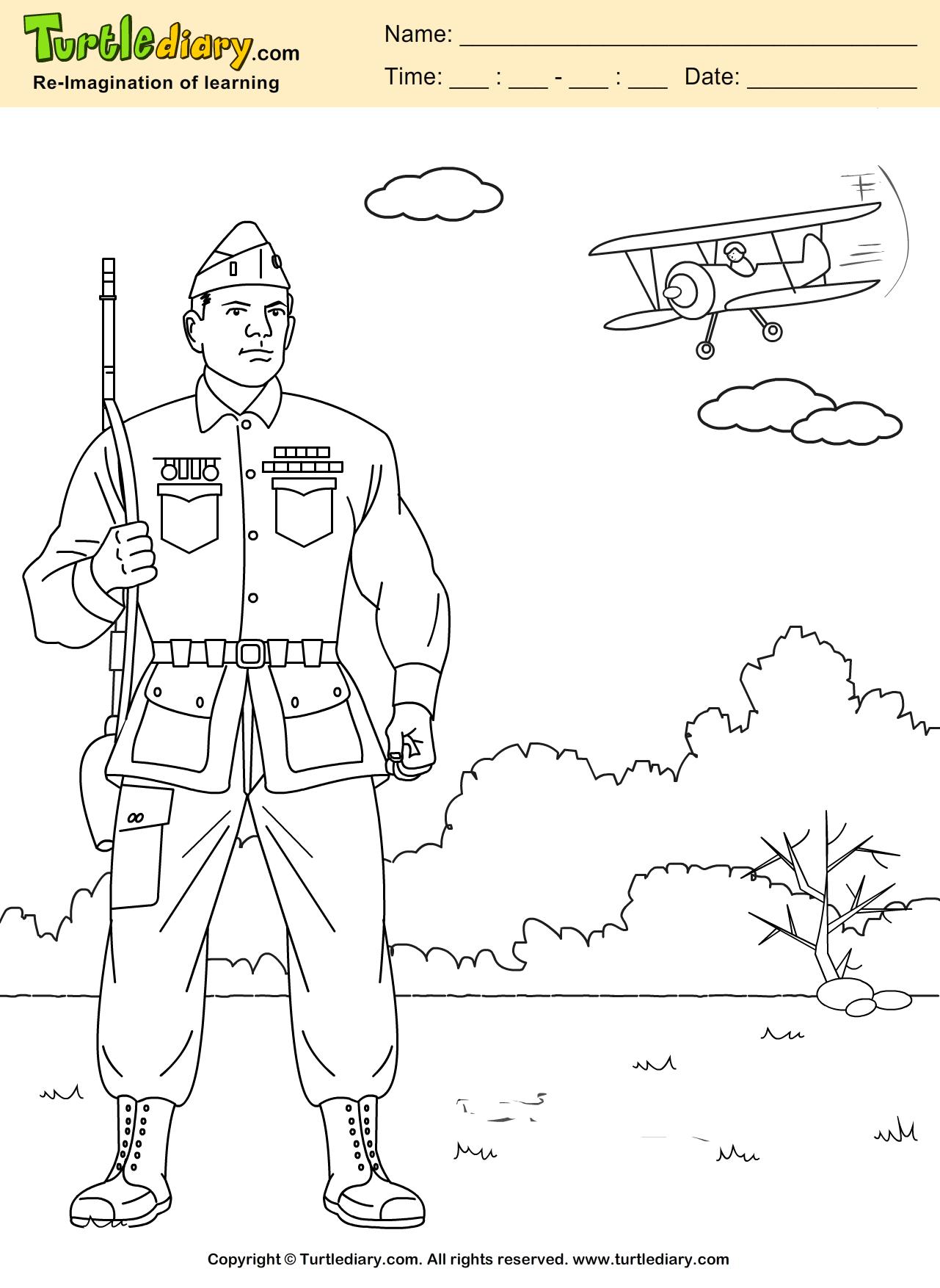Veteran Coloring Page