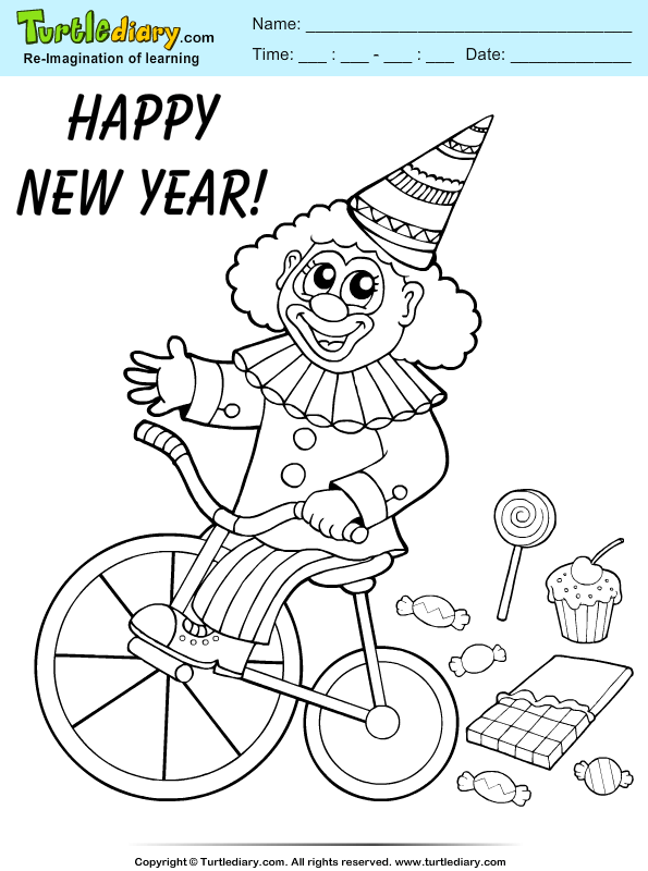 Carnival Clown Coloring Page