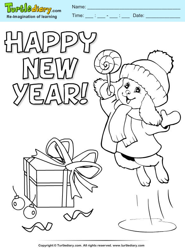 Dog with Candy Coloring Page