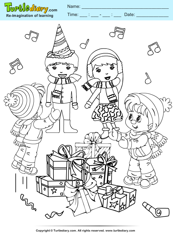 Friends Coloring Page