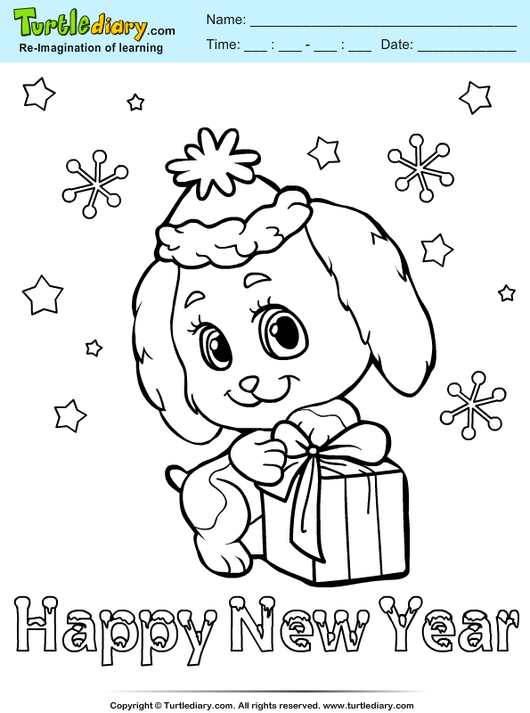 Puppy Party Coloring Page