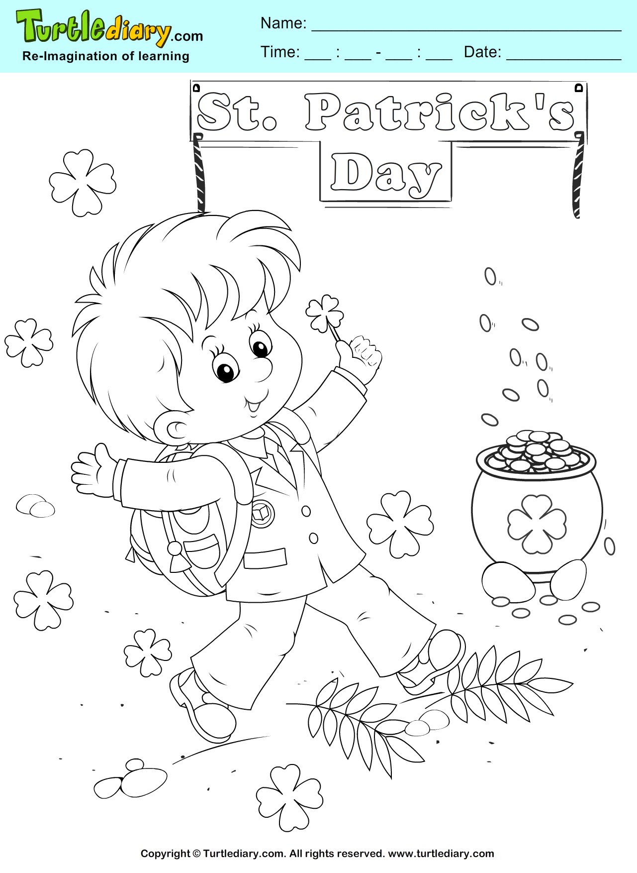 Gold Coins Coloring Page