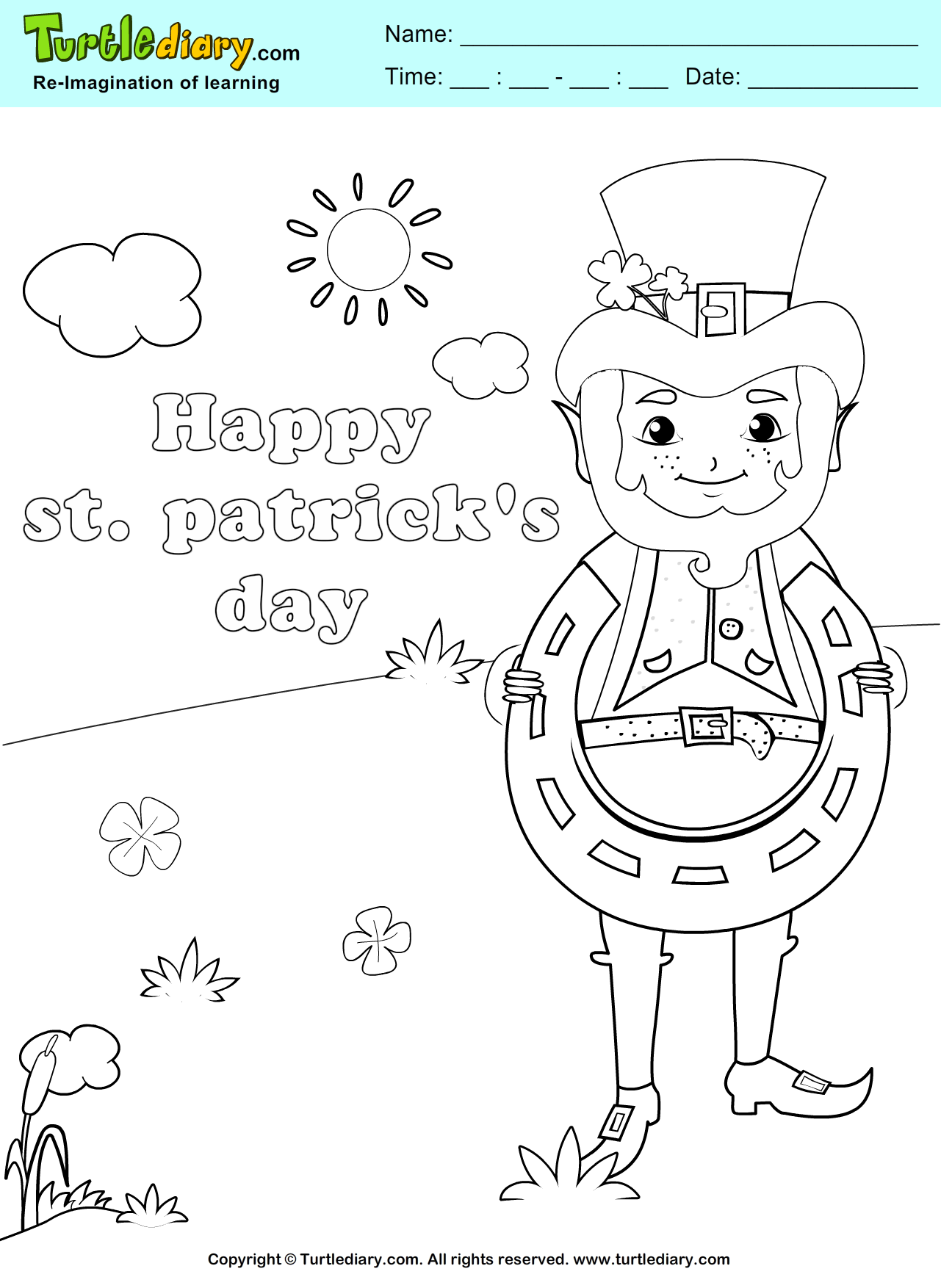 Lucky Coloring Page