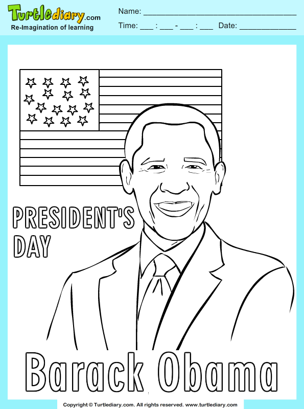 Good Barack Obama Coloring Page