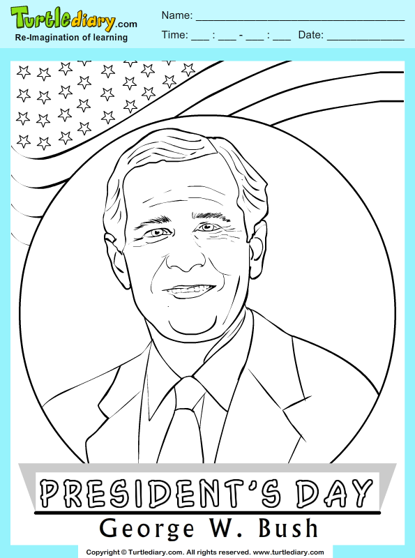 George W Bush Coloring Page