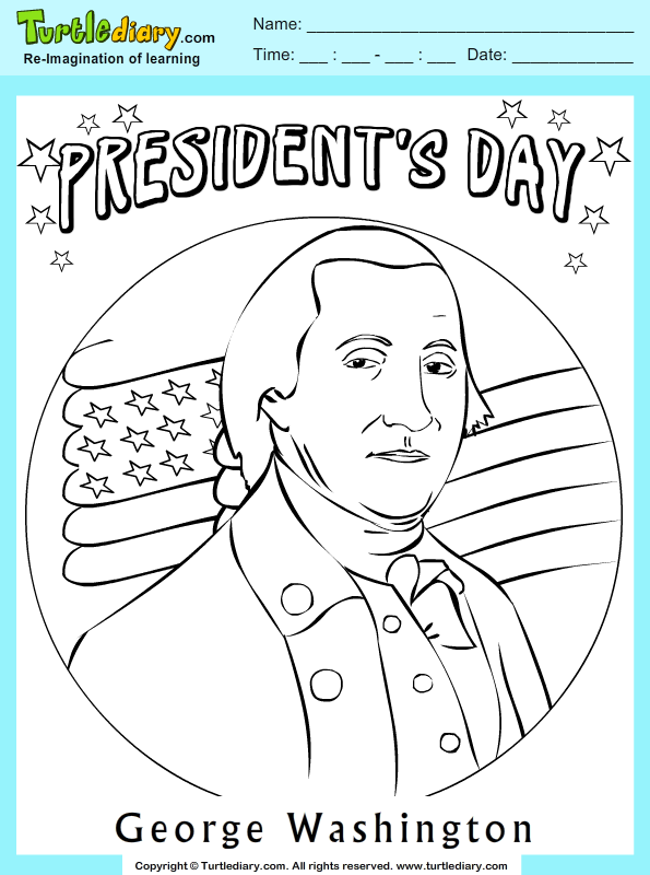 George Washington Coloring Sheet Turtle Diary