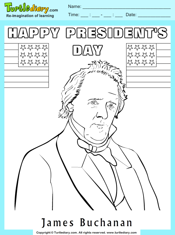 James Buchanan Coloring Page