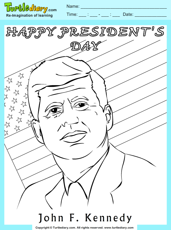 John F Kennedy Coloring Page