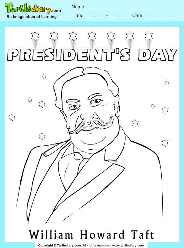 William Howard Taft Coloring Page