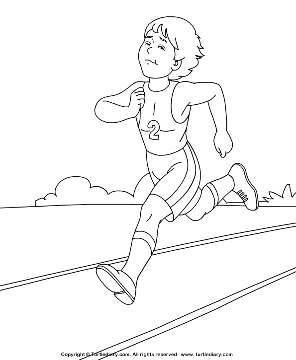 Athlete Coloring Page