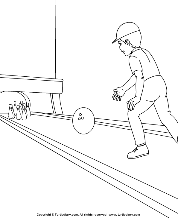 Bowling Coloring Sheet Turtle Diary