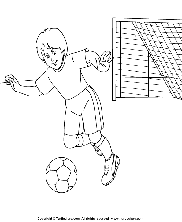 Soccer Coloring Page