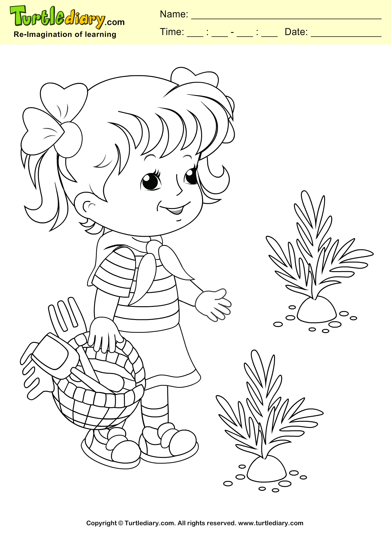 spring coloring sheet turtle diary