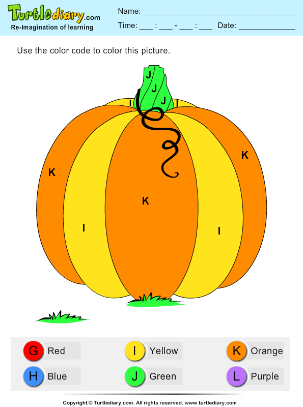 Color by Letter Pumpkin Answer