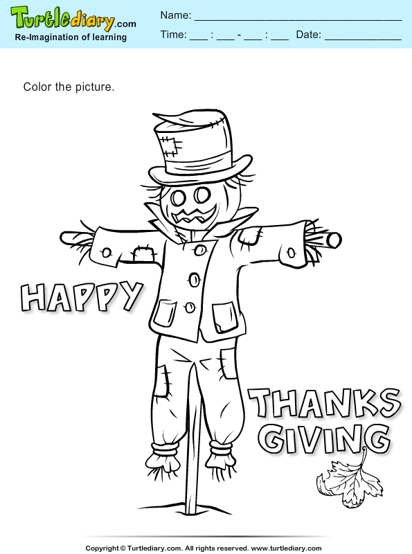 Color a Scarecrow