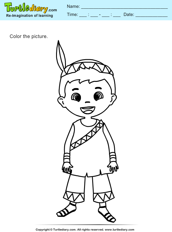 Color an Indian