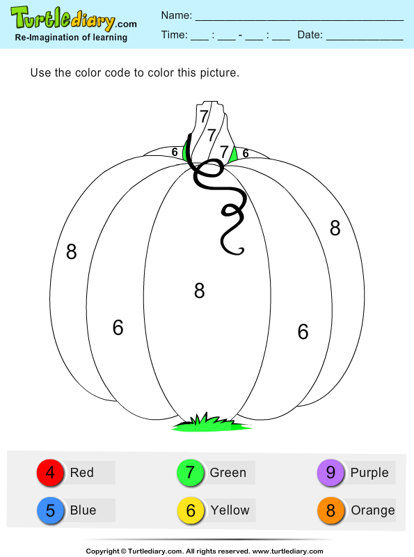 Color by Number Pumpkin