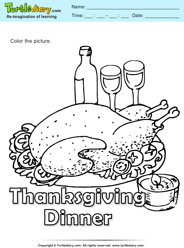 Color Thanksgiving Dinner