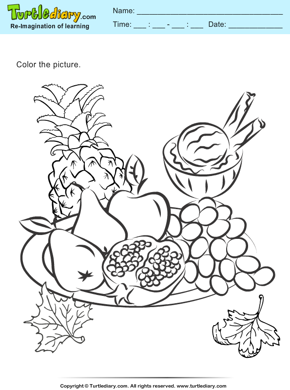 Color the Fruits