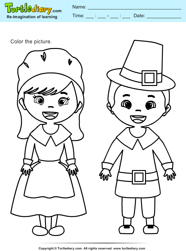 Color the Pilgrims