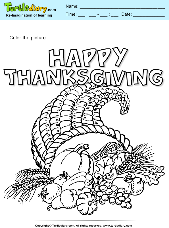 Thanksgiving Coloring Cornucopia