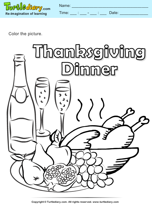 Thanksgiving Coloring Dinner