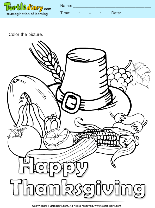 Thanksgiving Coloring Hat