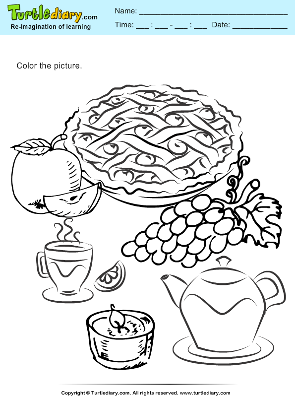 Thanksgiving Coloring Pie