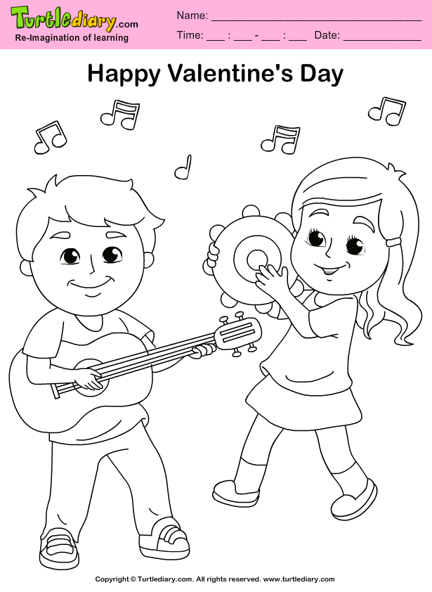 Friends Playing Music Coloring Page