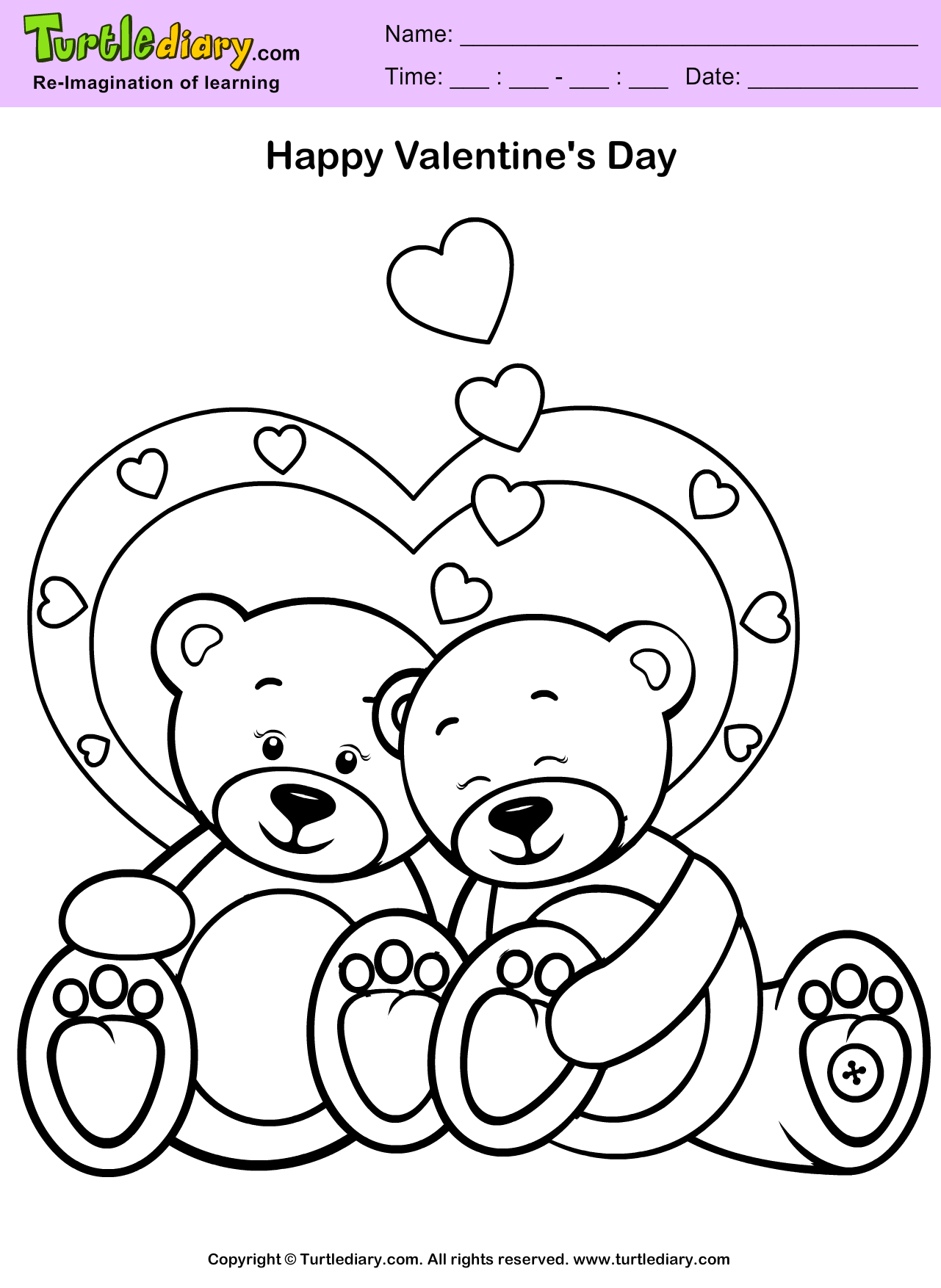Cartoon Teddy Bear Coloring Pages Alltoys for